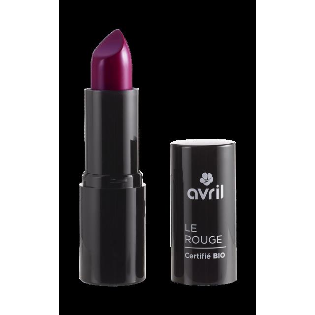 Rouge à lèvres grenat n°635 certifié BIO, Avril