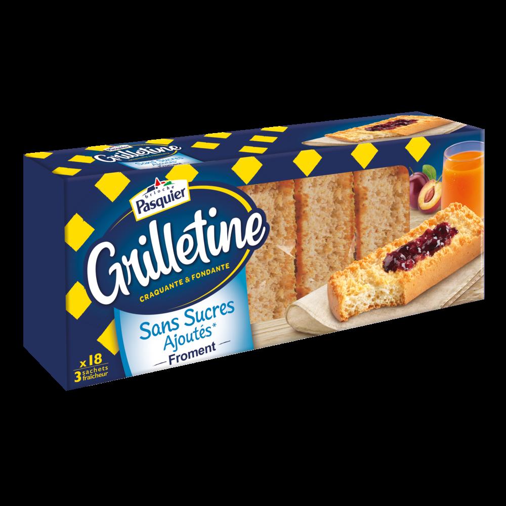 Grillettines froment sans sucres ajoutés, Pasquier (x 18, 255 g)