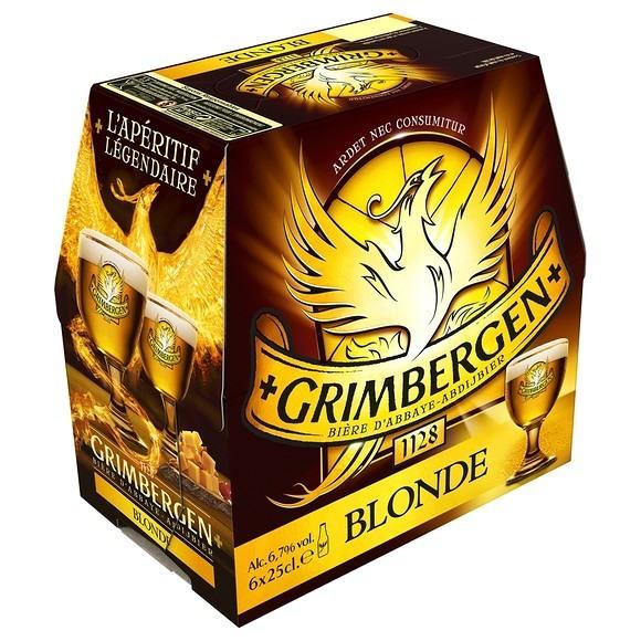 Pack de Grimbergen Blonde d'abbaye (6 x 25 cl)