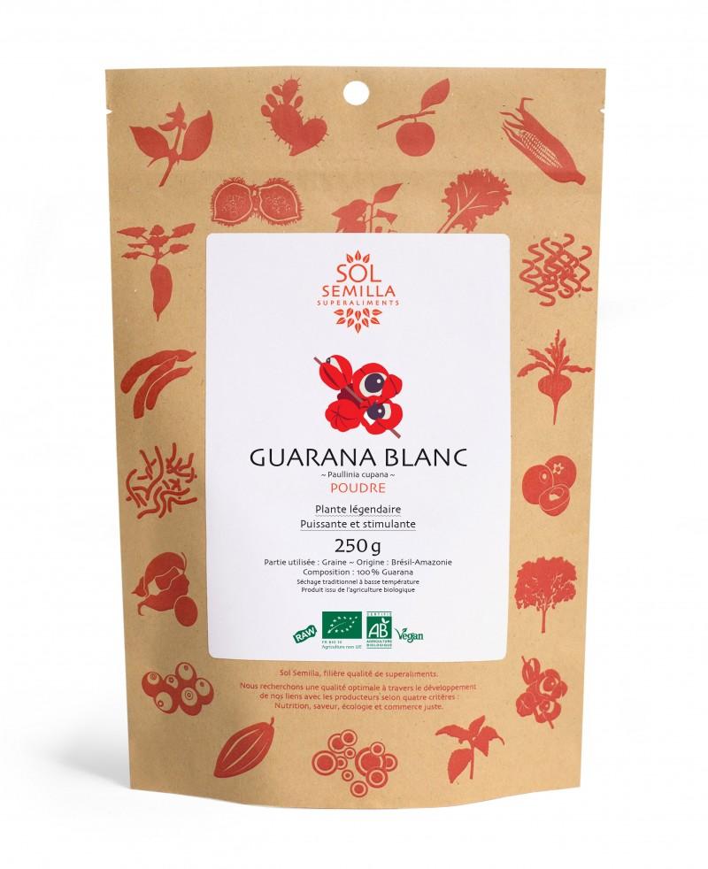 Guarana blanc en poudre, Sol Semilla (50 g)