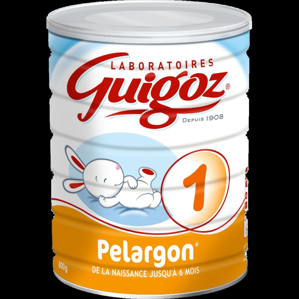 Lait en poudre Pelargon 1er âge - de 0 à 6 mois, Guigoz (800 g)