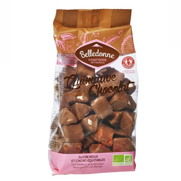 Guimauve enrobée de chocolat au lait BIO, Belledonne (180 g)