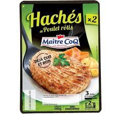 Haché de poulet rôti, Maître Coq (x 2, 180 g)