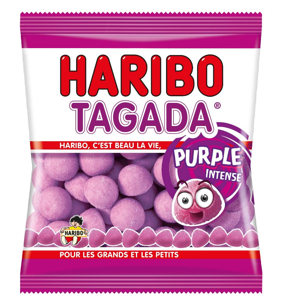Bonbons Fraise Tagada purple, Haribo (250 g)