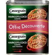 Haricots coco cuisinés, Cassegrain LOT DE 2 (2 x 435 g)