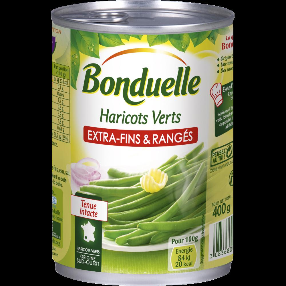 """Haricots verts extra-fins """"rangés"""", Bonduelle (220 g)"""
