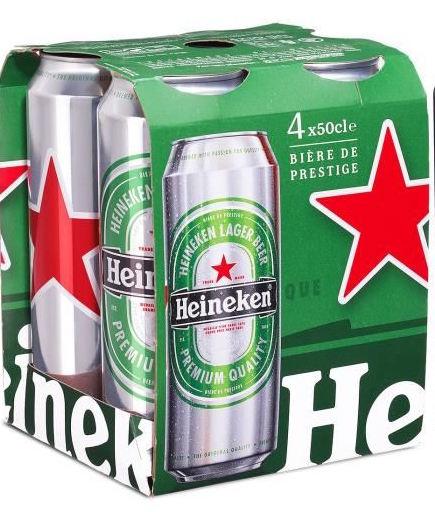 Pack de Heineken 5° canette (4 x 50 cl)