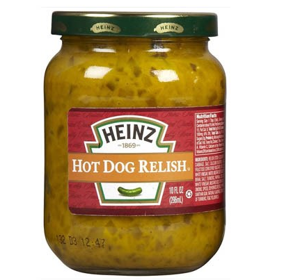 Hot Dog Relish Pot en verre, Heinz (296 ml)