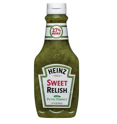 Sweet Relish Flacon souple, Heinz (375 ml)
