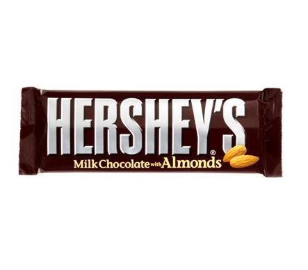 Barre chocolat au lait et amandes, Hershey's (41 g)