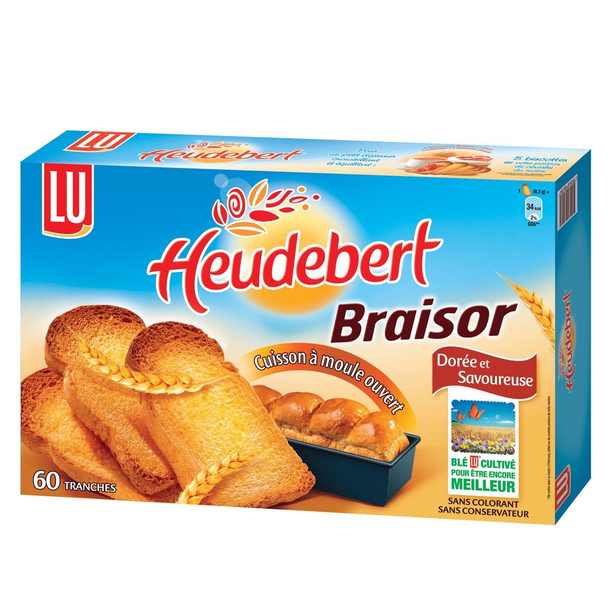 Pain biscotte Braisor, Heudebert (x 60, 500 g)