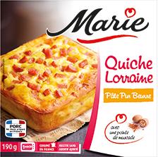 Quiche Lorraine pâte pur beurre, Marie Frais (180 g)