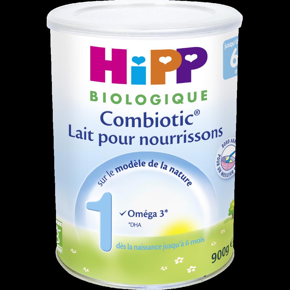 Lait pour nourrissons combiotic 1 BIO - de 0 à 6 mois, Hipp (900 g)