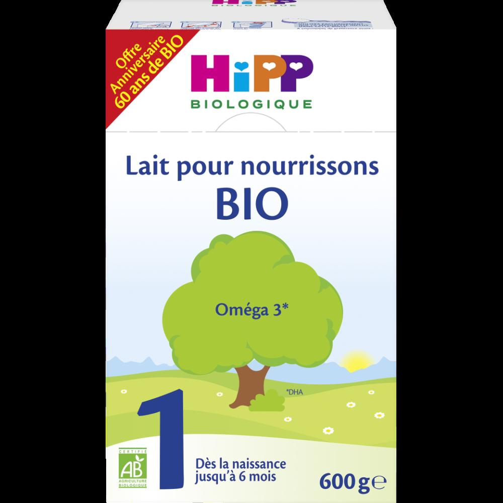 Lait pour nourrissons 1 BIO - de 0 à 6 mois, Hipp (600 g)