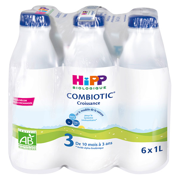 Pack de lait de croissance BIO de 10 à 36 Mois, Hipp (6 x 1 L)