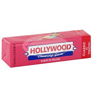 Chewing-gum Fraise, Hollywood (Etui de 11 tablettes)
