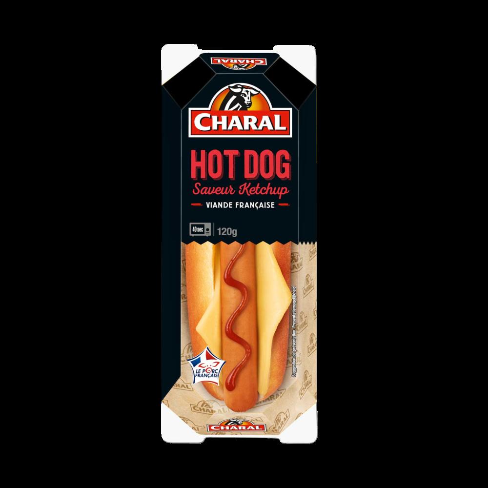 Hot dog au ketchup, Charal (120 g)