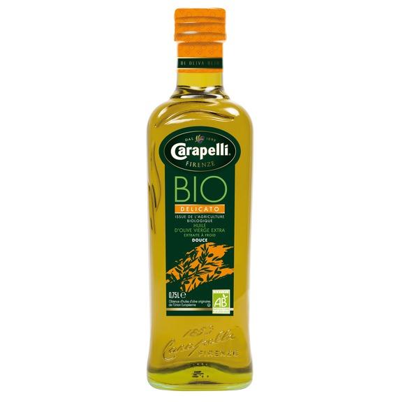 Huile d'olive vierge extra delicato BIO, Carapelli (75 cl)