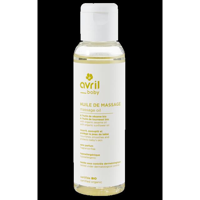 Huile de massage bébé certifié BIO, Avril (100 ml)