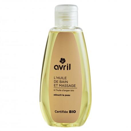 Huile de bain et de massage à l'huile d'argan certifiée BIO, Avril (160 ml)