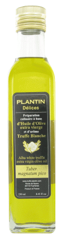 Huile d'olive à la truffe blanche d'alba - Plantin (25 cl)