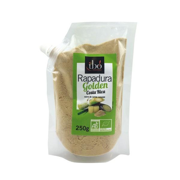Sucre de canne complet Rapadura Golden BIO, Ibo (250 g)