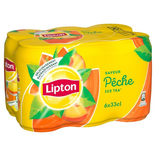 Ice Tea pêche Lipton (6 x 33 cl)