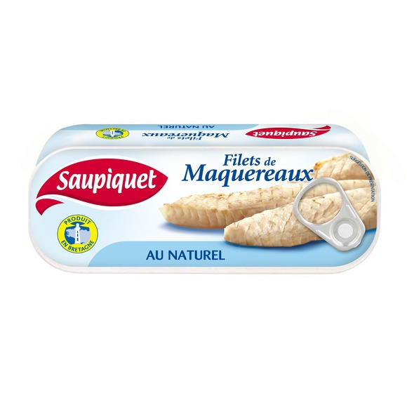 Filets de maquereaux au naturel en lot, Saupiquet (2 x 169 g)