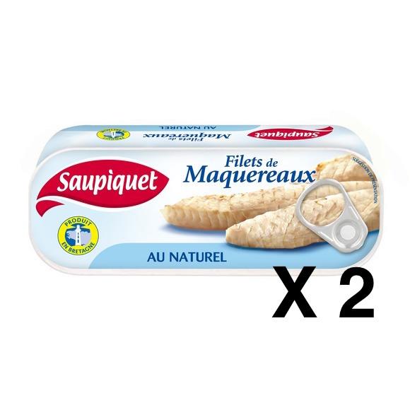 Filets de maquereaux au naturel, Saupiquet LOT DE 2 (2 x 169 g)