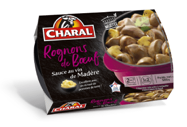 Rognons de boeuf sauce Madère, Charal (2 x 150 g)