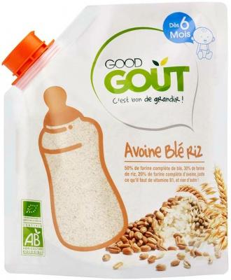 Farines d'avoine, blé et riz BIO, Good Goût (220 g) - dès 6 mois