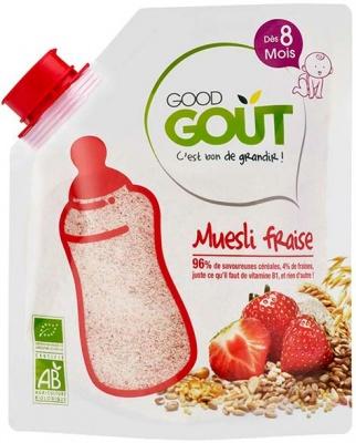 Muesli Fraise BIO, Good Goût (220 g) - dès 8 mois