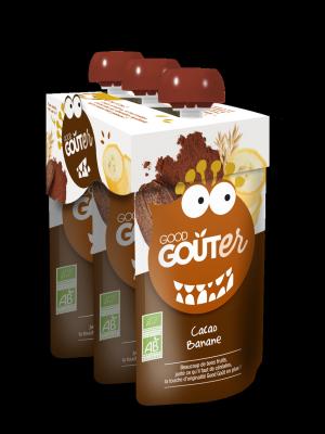 Good Goûter Cacao Banane BIO, Good Goût (3 x 120 g)