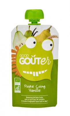 Good Goûter Poire Coing Vanille BIO, Good Goût (120 g)