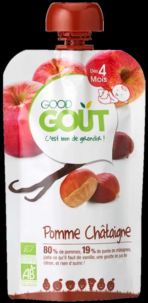 Pomme châtaigne vanille BIO - dès 4 mois, Good Goût (120 g)