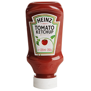 Ketchup top down en flacon, Heinz (250 g)