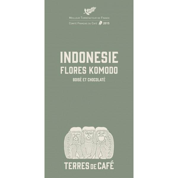 Café moulu Indonésie Flores Komodo, Terres de Café (250 g)