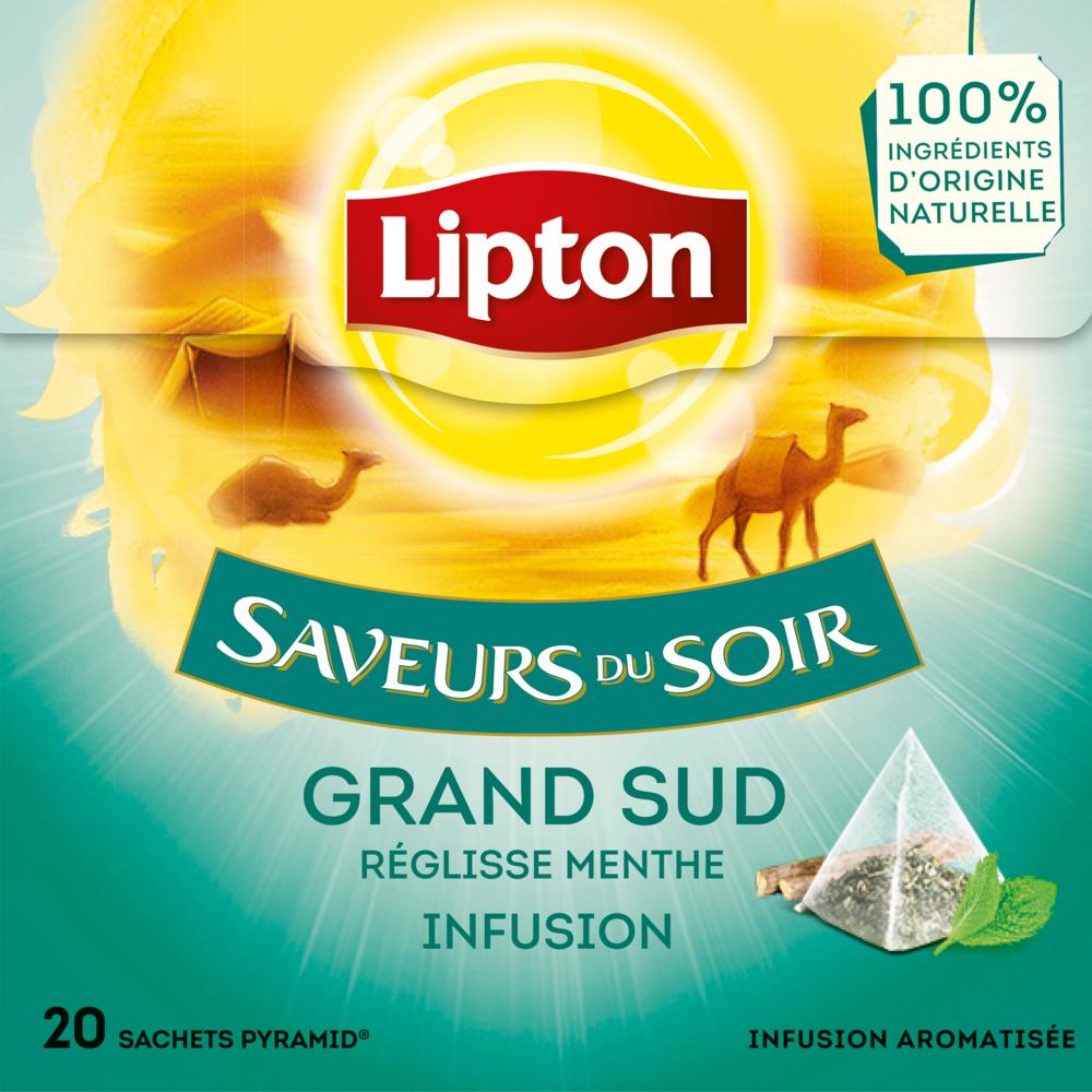 Infusion du Grand Sud saveurs du soir, Lipton (20 sachets)