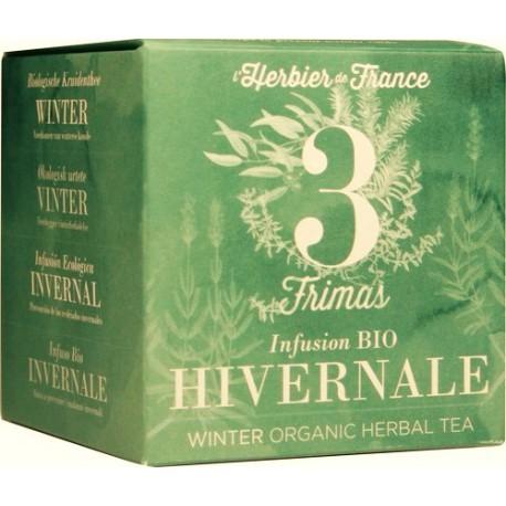Infusion n°3 Hivernale - Frimas - BIO, Herbier de France (x 15 sachets)