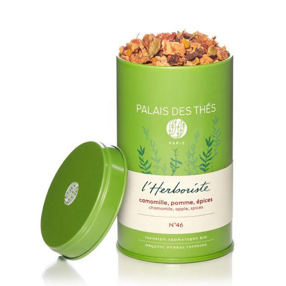 Infusion L'herboriste n°46 camomille, pommes, épices BIO, Palais des Thés (120 g)