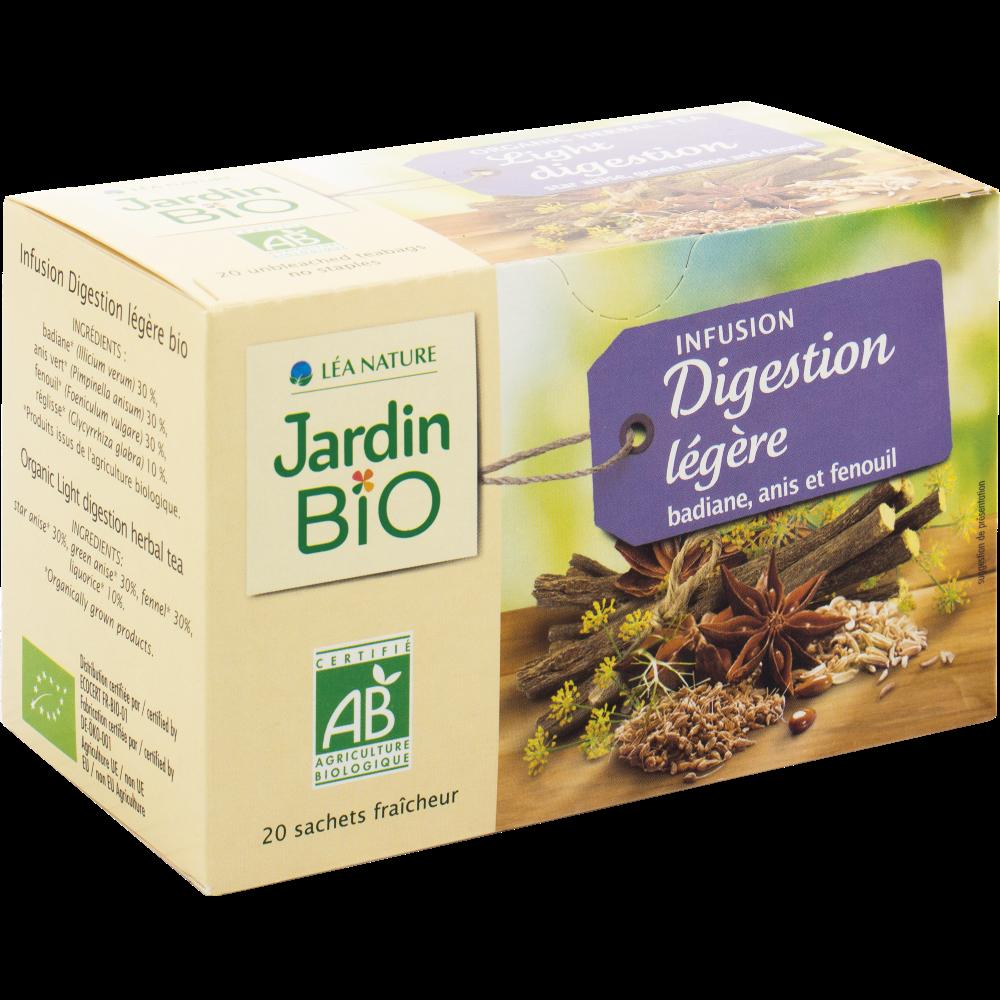Infusion digestion légère BIO, Jardin Bio (20 sachets)