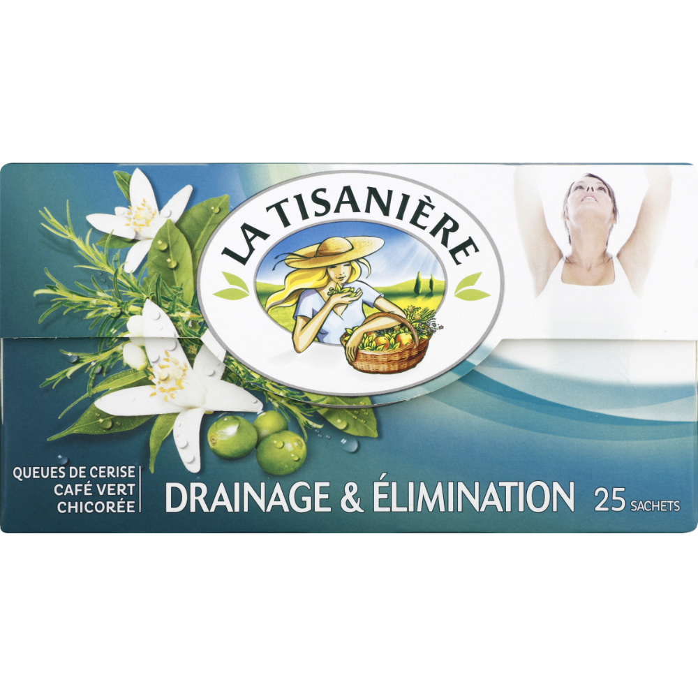 Infusion drainage et élimination, La Tisanière (25 sachets)