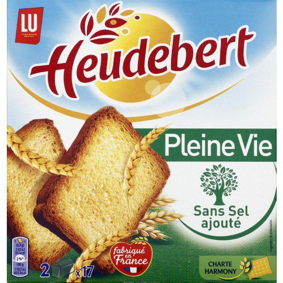 Biscottes Pleine vie sans sel ajouté, Heudebert (300 g)
