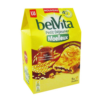 Biscuit coeur Gourmand choco/noisette, Belvita Petit Déjeuner (250 g)