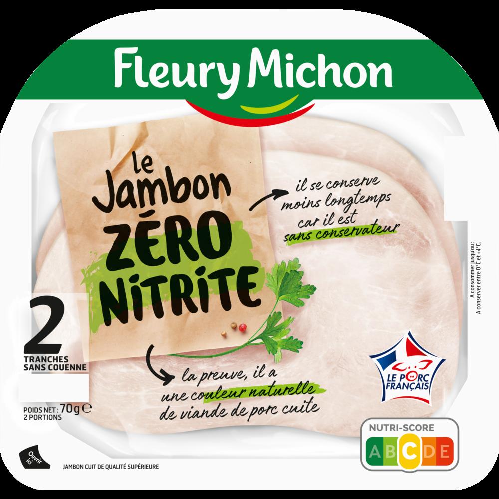 Jambon de porc zéro nitrite, Fleury Michon (2 tranches, 70 g)