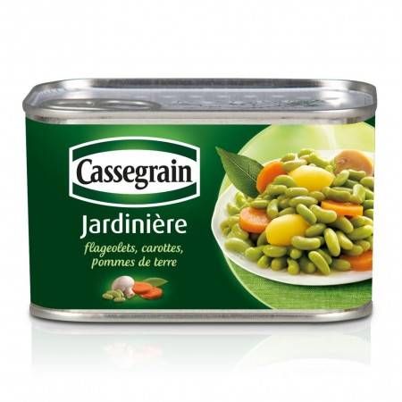 Jardiniere flageolets carottes pommes de terre, Cassegrain (425 g)