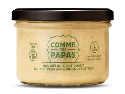 Mousseline d'artichaut, sauté de boeuf aux oignons et citron BIO - 6 mois Comme des Papas (150 g)