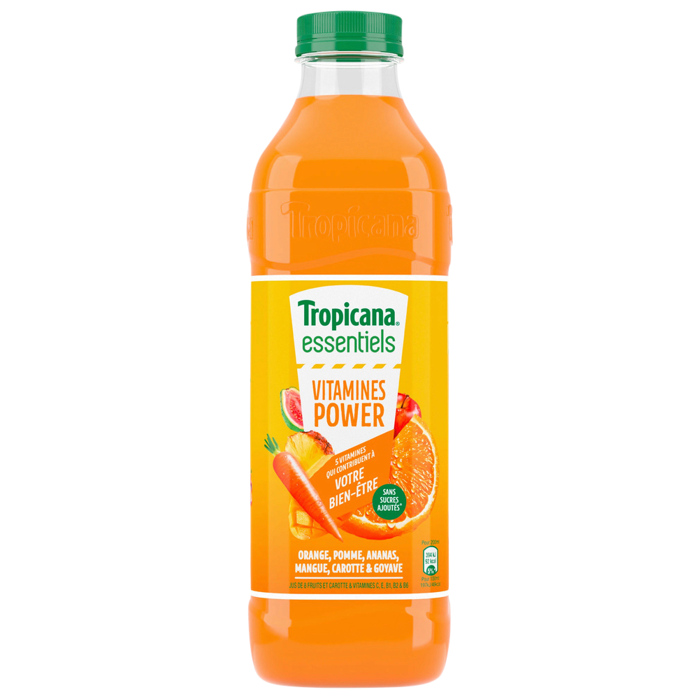 Jus de 5 fruits carotte et vitamines, Tropicana (1 L)