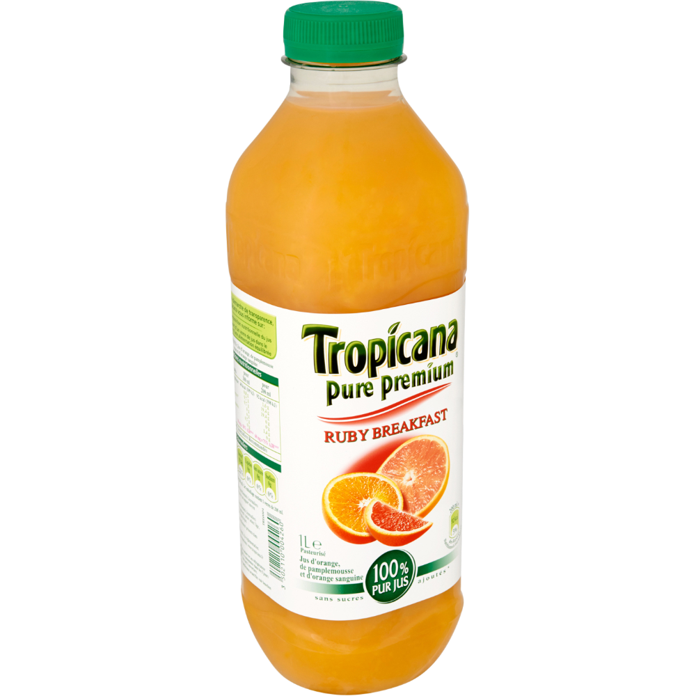 Jus ruby breakfast pamplemousse / orange / orange sanguine, Tropicana (1 L)