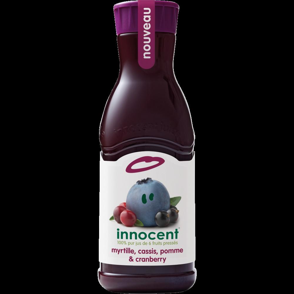 Jus de myrtille cassis pomme & cranberry frais, Innocent (900 ml)